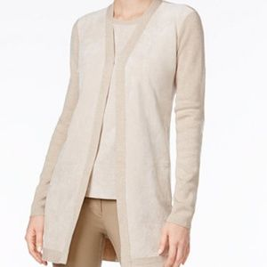 Calvin Klein Faux Suede Cardigan Sweater